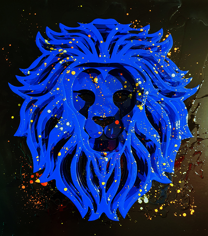 lion bleu pierre lamblin